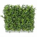 Plaque de buis artificiel 25,5x25,5cm 140 feuilles