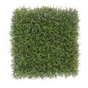 Plaque d'herbe fine artificielle vert/jaune 25,5x25,5cm
