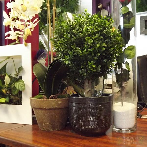 cache pot c ramique gris anthracite 18cm hauteur 15cm mat riel mur v g. Black Bedroom Furniture Sets. Home Design Ideas