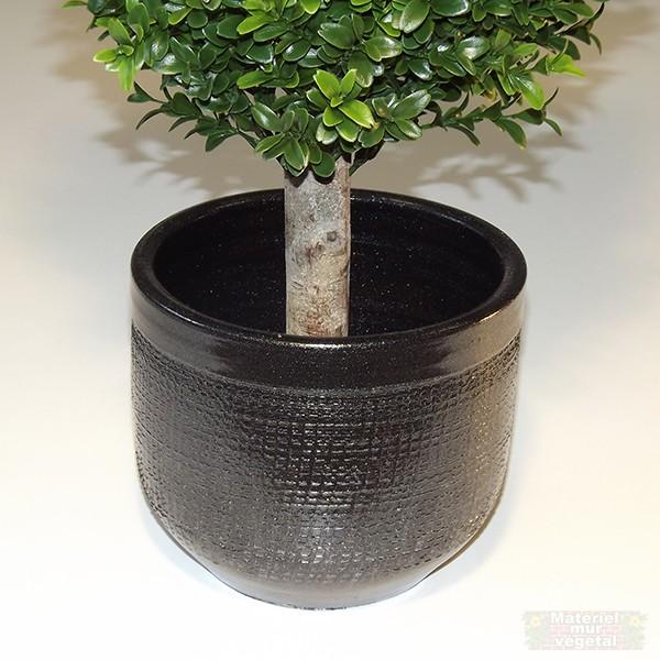 Cache pot céramique gris anthracite Ø18cm hauteur 15cm - Matériel ...