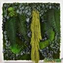 Tableau végétal stabilisé Tablo'Nature 60x60cm Green Eucalyptus
