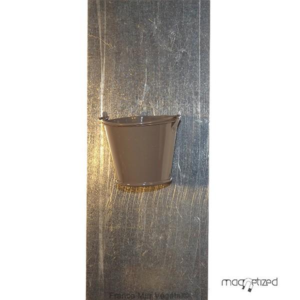 cache pot magn tique 7cm sceau taupe mat riel mur v g. Black Bedroom Furniture Sets. Home Design Ideas