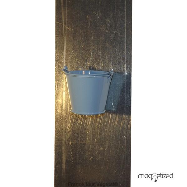cache pot magn tique 7cm sceau bleu mat riel mur v g. Black Bedroom Furniture Sets. Home Design Ideas