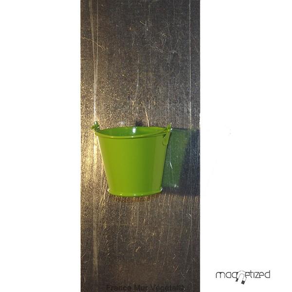 cache pot magn tique 7cm sceau vert mat riel mur v g. Black Bedroom Furniture Sets. Home Design Ideas