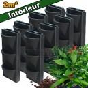 8 Kits mur végétal intérieur Vertiss Compact 80x30x20cm avec plantes & terreau
