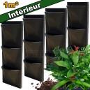 4 Kits mur végétal intérieur Vertiss Corner 80x30x23cm avec plantes & terreau