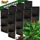 8 Kits mur végétal intérieur Vertiss Corner 80x30x23cm avec plantes & terreau