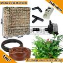 Pack Intérieur 1m² modules de sphaigne 36x36x16cm avec plantes & irrigation