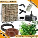 Pack Intérieur 3.5m² modules de sphaigne 36x36x16cm avec plantes & irrigation