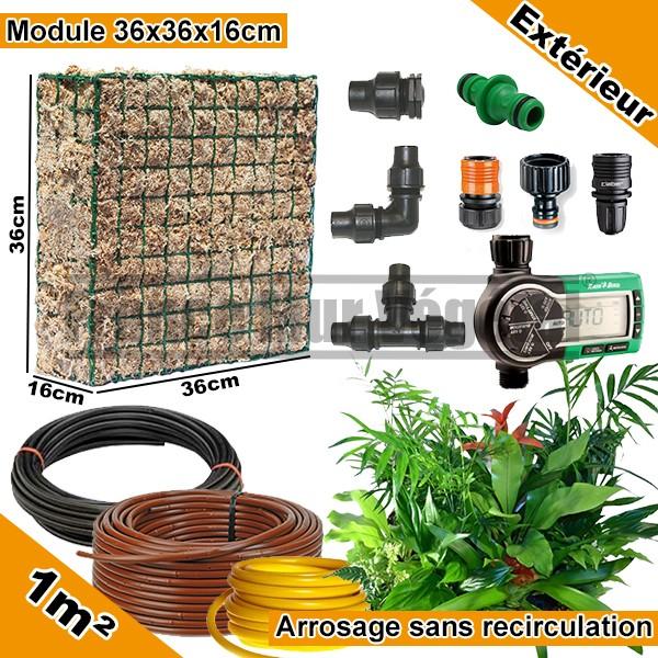 pack ext rieur 1m modules de sphaigne 36x36x16cm avec. Black Bedroom Furniture Sets. Home Design Ideas