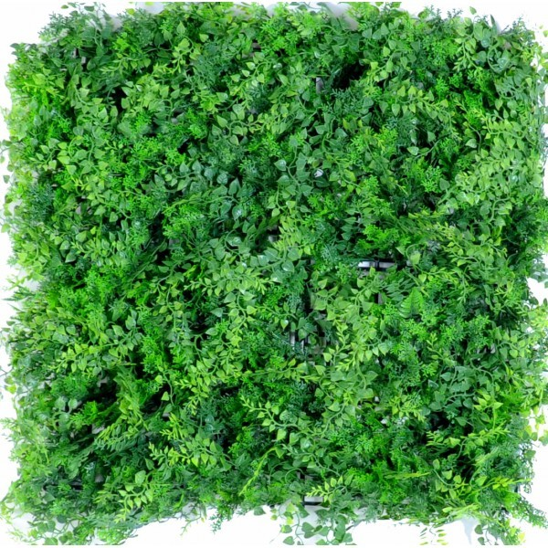 Plaque mur v g tal artificiel foug res 50x50cm mat riel for Mur vegetal exterieur synthetique