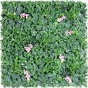 Plaque mur végétal artificiel vert rose 100x100cm