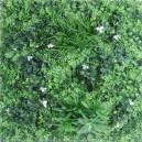 Plaque mur végétal artificiel vert blanc 100x100cm