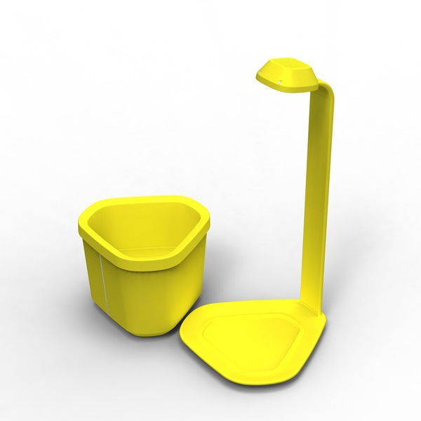 mini potager d int rieur g nie jaune 18x21x44cm mat riel mur v g. Black Bedroom Furniture Sets. Home Design Ideas