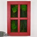 Tableau végétal stabilisé Fenêtre Végétale 60x40cm Rouge