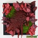 Tableau végétal stabilisé Tablo'Nature 25x25cm Red Eucalyptus