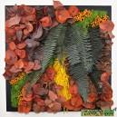 Tableau végétal stabilisé Tablo'Nature 40x40cm Orange Eucalyptus