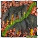 Tableau végétal stabilisé Tablo'Nature 60x60cm Orange Eucalyptus