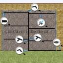 Kit Irrigation Automatique Mur Végétal Extérieur Goutteurs 2L/H
