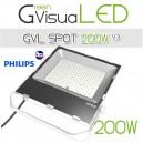 Spot horticole LED 200W à fixer pour mur végétal