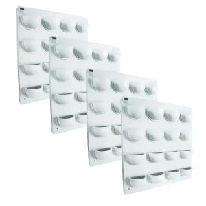 4 kits mur v g tal flowall blanc 42x40cm mat riel mur v g. Black Bedroom Furniture Sets. Home Design Ideas