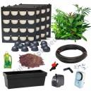 4 Kits Mur Végétal Flowall Noir avec plantes & arrosage automatique