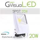 Spot LEDs 20W Slim à fixer pour mur végétal