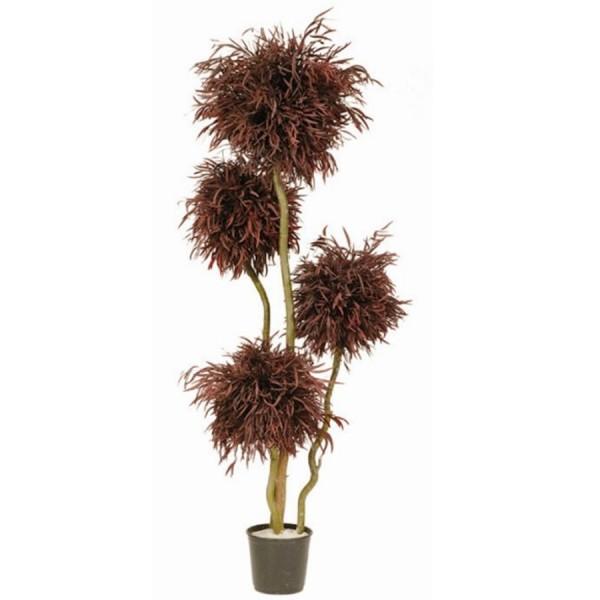 arbre 4 boules nicoly rouge stabilis 180cm mat riel mur v g. Black Bedroom Furniture Sets. Home Design Ideas