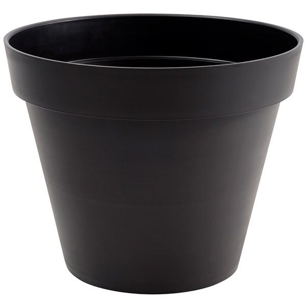 pot toscane rond 23l gris anthracite 40cm hauteur 32cm mat riel mur v g. Black Bedroom Furniture Sets. Home Design Ideas