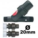 """Filtre Y 3/4"""" M/M Rain Bird régulateur pression 2bar 75microns embouts 20mm palaplast"""
