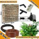 Pack Intérieur 0.5m² modules de sphaigne 36x36x16cm avec plantes & irrigation