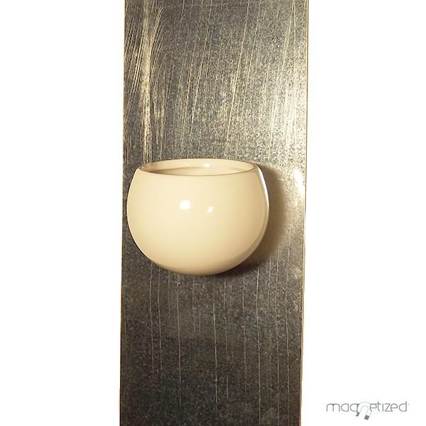 cache pot magn tique 8cm blanc mat riel mur v g. Black Bedroom Furniture Sets. Home Design Ideas