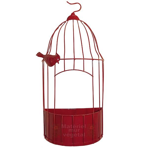 cage v g tale zinc rouge 40x20cm pr te planter mat riel mur v g. Black Bedroom Furniture Sets. Home Design Ideas