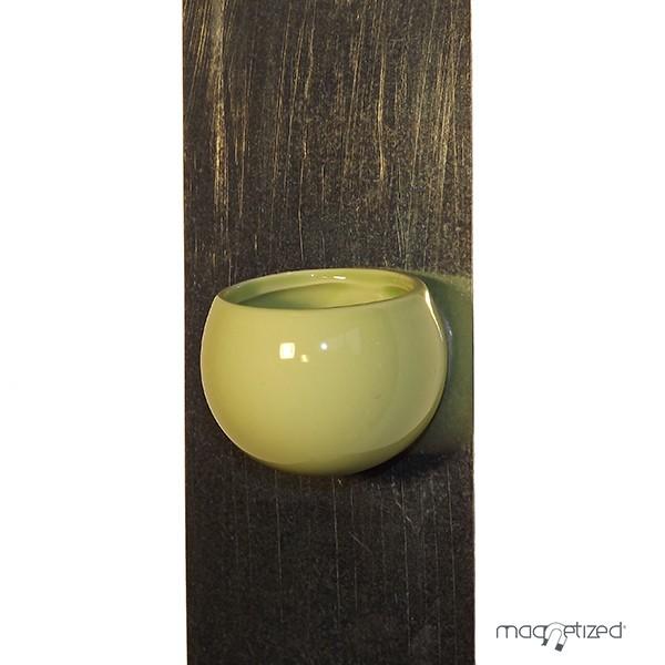 cache pot magn tique 8cm vert pistache mat riel mur v g. Black Bedroom Furniture Sets. Home Design Ideas