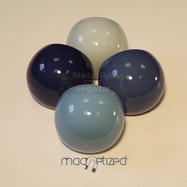 cache pot magn tique 8cm bleu nuit mat riel mur v g. Black Bedroom Furniture Sets. Home Design Ideas