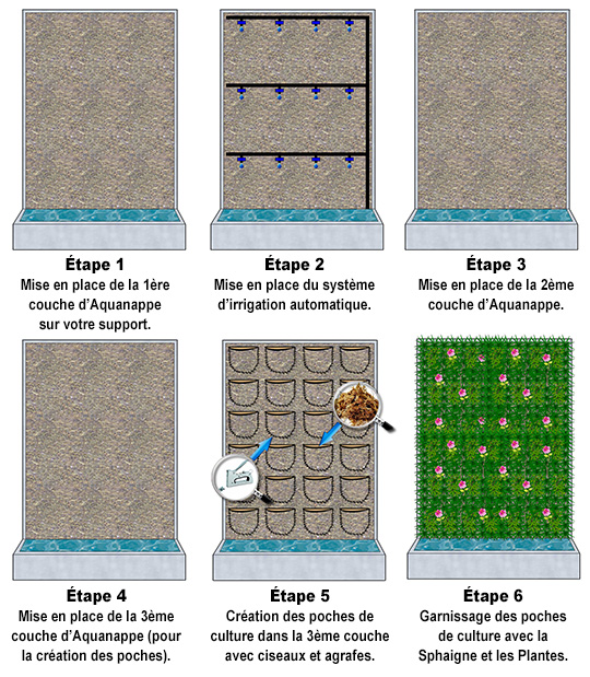 Pack mur végétal Intérieur Aquanappe M