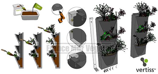 Module pour mur végétal Vertiss Compact
