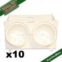10 Modules Dual Pot Ø8cm Wall Of Plants Blanc 20x12,5cm
