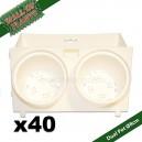40 Modules Dual Pot Ø8cm Wall Of Plants Blanc 20x12,5cm