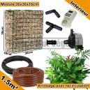 Pack Intérieur 1.5m² modules de sphaigne 36x36x16cm avec plantes & irrigation