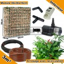 Pack Intérieur 3m² modules de sphaigne 36x36x16cm avec plantes & irrigation