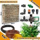 Pack Extérieur 1m² modules de sphaigne 36x36x16cm avec plantes & irrigation sans recirculation