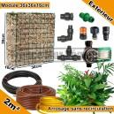 Pack Extérieur 2m² modules de sphaigne 36x36x16cm avec plantes & irrigation sans recirculation