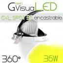 Spot horticole LED 360° 35W encastrable pour mur végétal