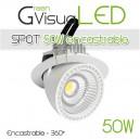 Spot à LEDs 360° 50W encastrable pour mur végétal