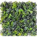 Plaque mur végétal artificiel lierre & buis 50x50cm