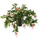 Fuchsia artificiel crème & rouge 45cm sur pique