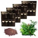 4 Kits Mur Végétal Extérieur Flowall Noir 42x40cm avec 40 plantes