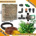 Pack Extérieur 0.5m² modules de sphaigne 36x36x16cm avec plantes & irrigation sans recirculation