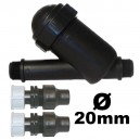 "Filtre Y tamis inox 130 microns 3/4"" embouts 20mm palaplast"
